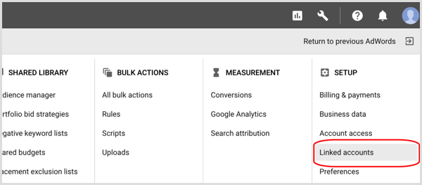 link your AdWords account to your YouTube channel
