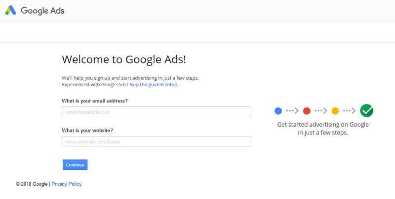 راهنمای ساخت اکانت گوگل ادز