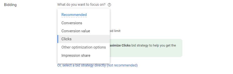 نحوه حداکثر سازی کلیک های در تعیین بودجه تبلیغات گوگل ادز