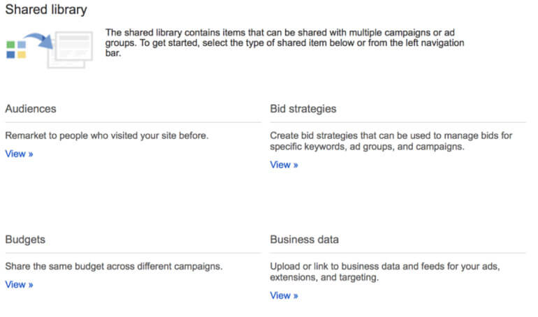 adwords shared library audiences
