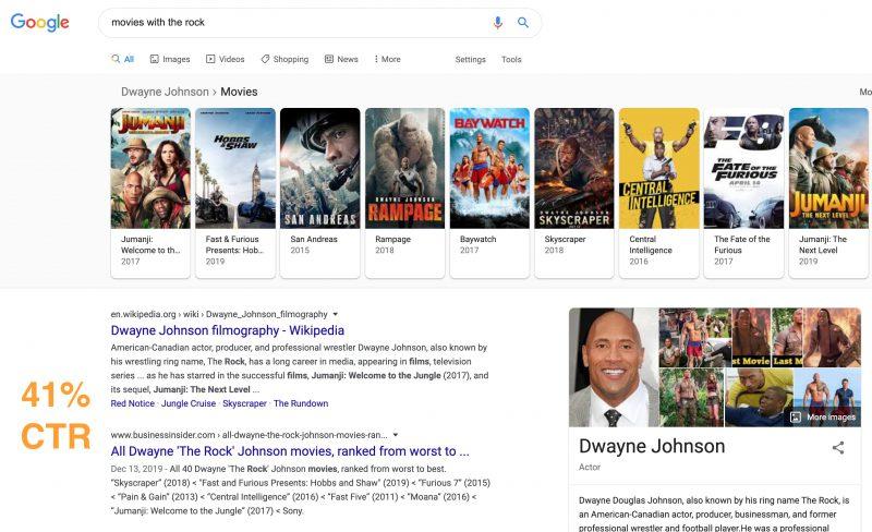 جستجوی گوگل با ویژگیهای زیاد