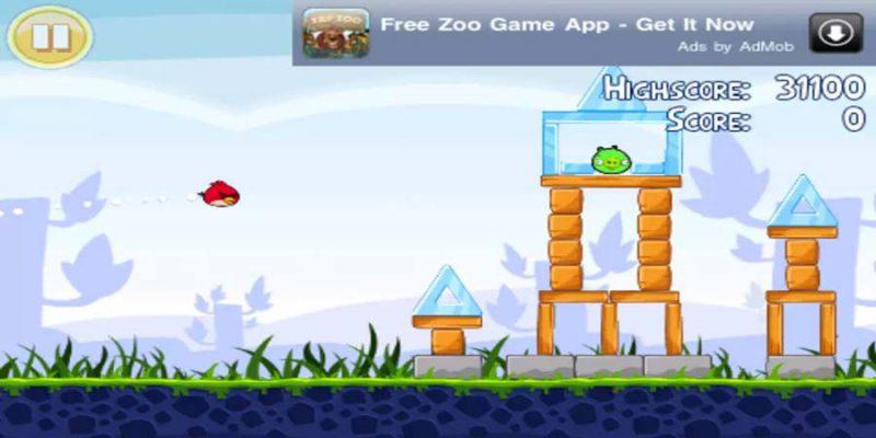 بنر تبلیغاتی در بازی پرندگان خشمگین - استراتژی تبلیغات در بازی های موبایل