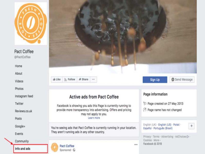 اطلاعات و تبلیغات در صفحات فیس بوک