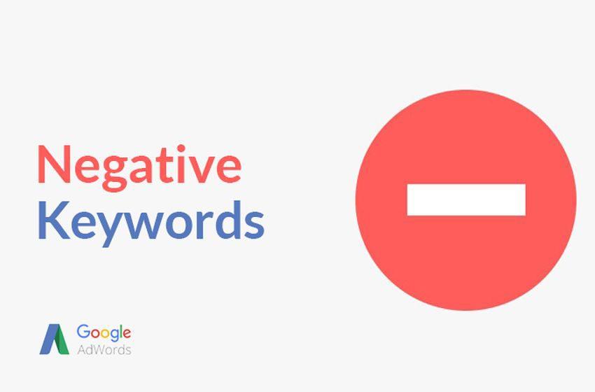 کلمات کلیدی منفی - واژه نامه گوگل ادز