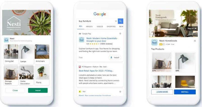 کمپین تبلیغاتی اپلیکیشن گوگل