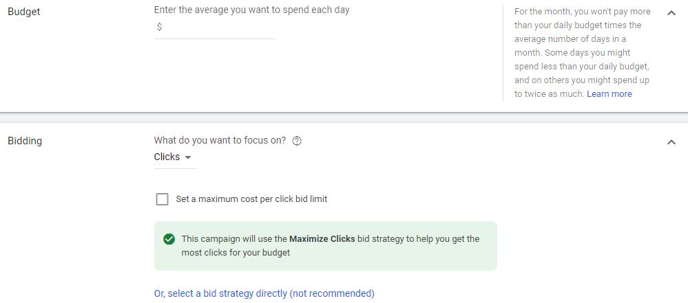 چگونه در گوگل تبلیغ کنیم؟ نحوه تنظیم بودجه و هزینه گذاری کمپین سرچ