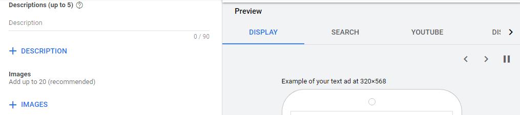 توضیحات دیسکریپشن و اضافه کردن تصاویر به کمپین اپلیکیشن