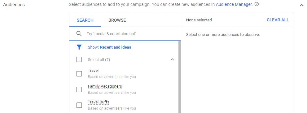 استفاده از بخش Audience برای شناخت کاربران و هدفمند کردن تبلیغات سرچ گوگل