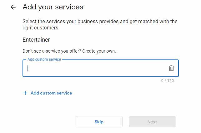 ثبت خدمات ارائه شده توسط شرکت در گوگل مای اکانت