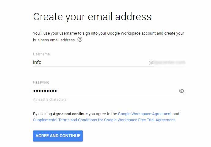 وارد کردن اطلاعات ایمیل در مای اکانت