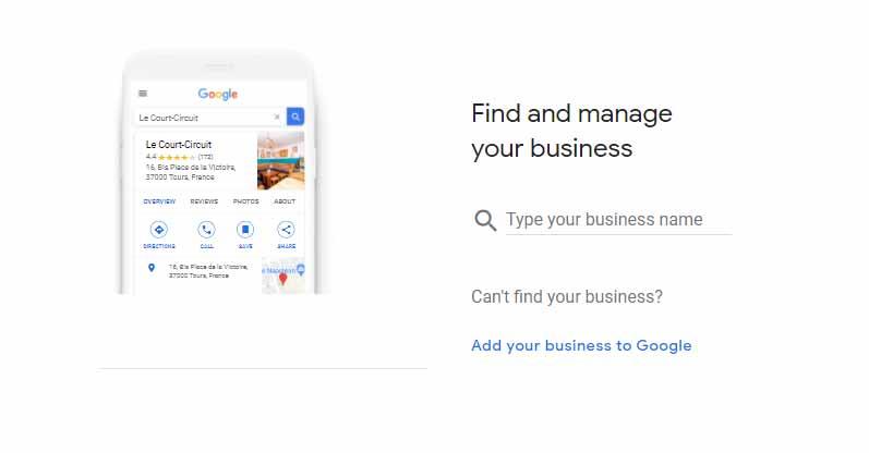 اضافه کردن نام کسب و کار برای ثبت نام در گوگل مای بیزینس