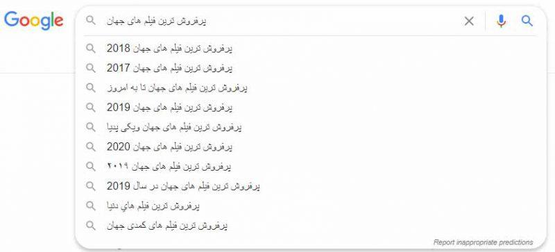 پیشنهادهای گوگل برای بهینه سازی کلمات کلیدی