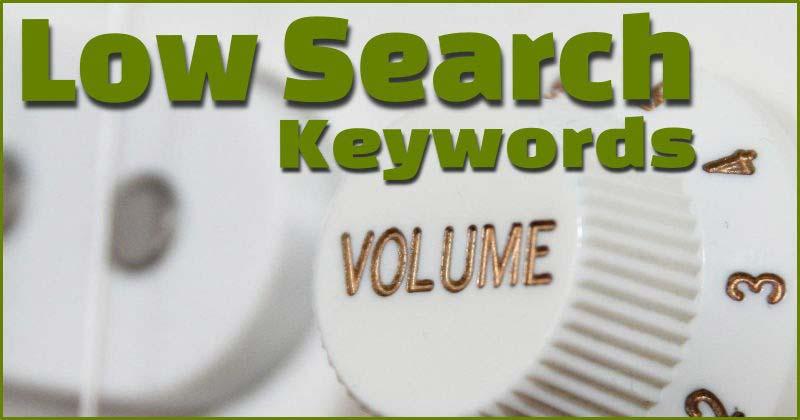 کلمات کلیدی با جستجوی کم - اصطلاحات گوگل ادز