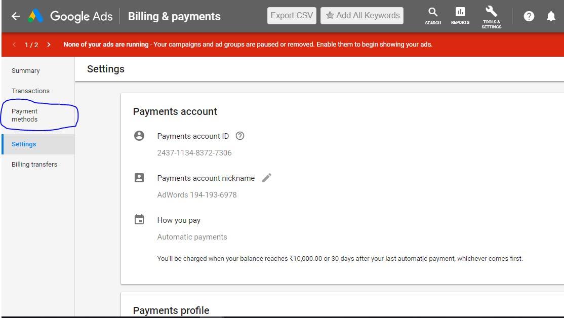روش های پرداخت در تبلیغات گوگل - اصطلاحات گوگل ادز